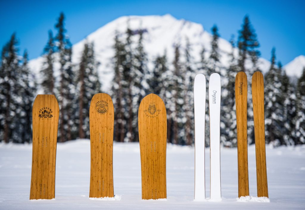 Oregrown Snowplanks snowboards and skis